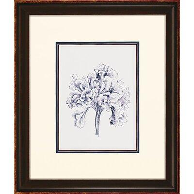 Paragon Indigo Kelp 4 Piece Framed Painting Print Set