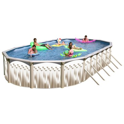 Georgian Oval Deep Complete Above Ground Pool Package by Heritage Pools