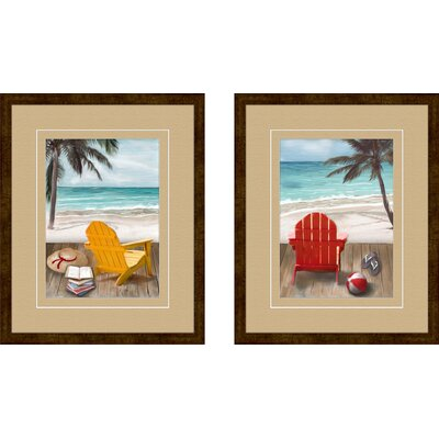 PTM Images Sunny Afternoon 2 Piece Framed Painting Print Set