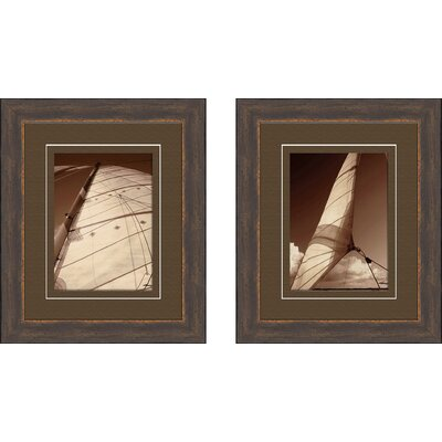 PTM Images Weekend Sail 2 Piece Framed Photographic Print Set