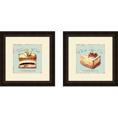 PTM Images Kitchen Vanilla Cake 2 Piece Framed Vintage Advertisement Set
