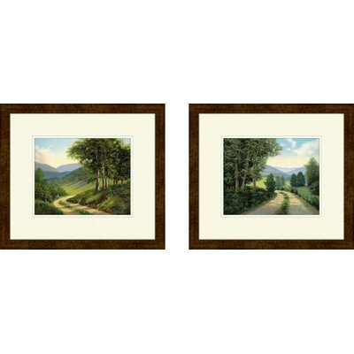 PTM Images Landscape The Road Home 2 Piece Framed Painting Print Set