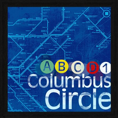 Columbus Circle Framed Textual Art by PTM Images