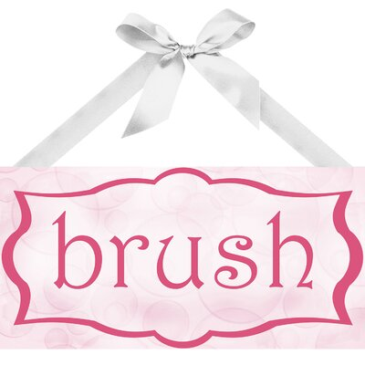 Brush I Textual Art on Plaque by PTM Images