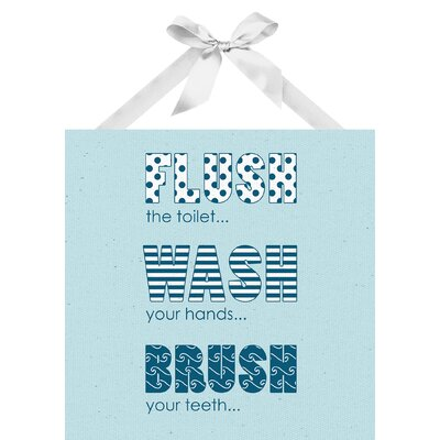 Flush Wash Brush Textual Art on Plaque by PTM Images