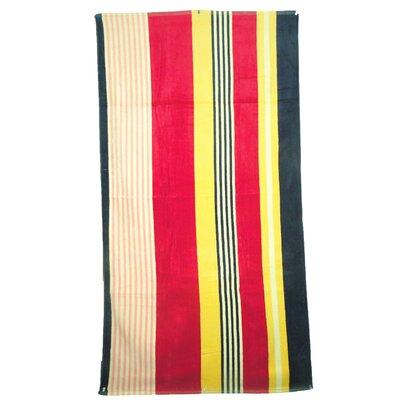 Velour Multi-Colored Stripe Beach Towel by Textiles Plus Inc.
