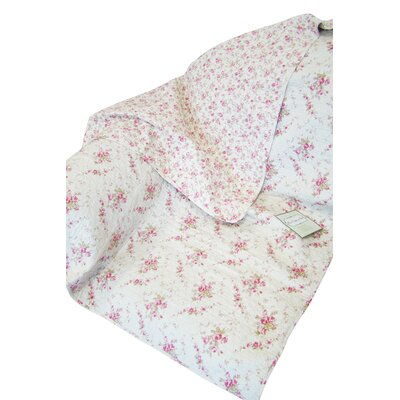 Rose Perfume Abby Rose Cotton Throw by Textiles Plus Inc.