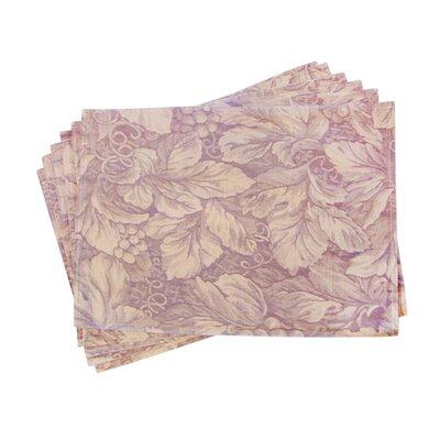 Textiles Plus Inc. Lined Jacquard Floral Placemat