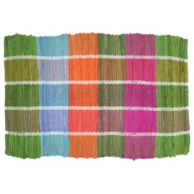 Colored Plaid Doormat by Imports Decor
