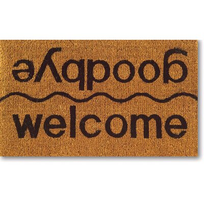 Imports Decor Tufted Welcome / Goodbye Doormat