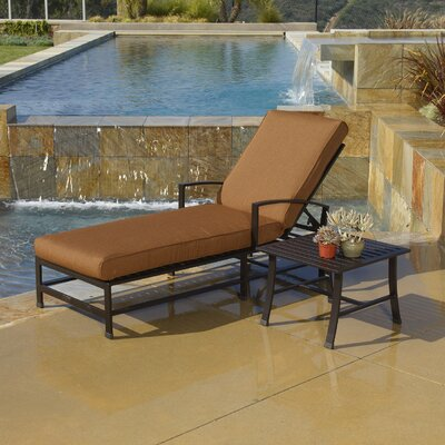 La Jolla Chaise Lounge with Cushion by Sunset West