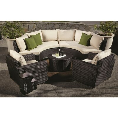 Sunset West Solana 5 Piece Deep Seating Group with Cushions