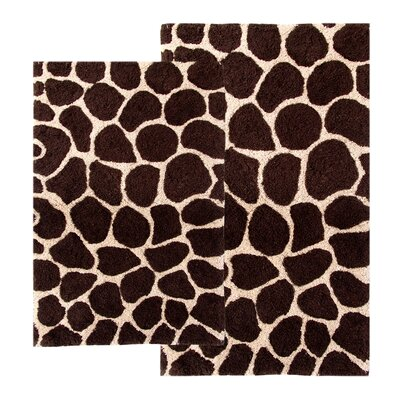 Chesapeake Merchandising Inc. Safari Giraffe Contemporary Bath Rug