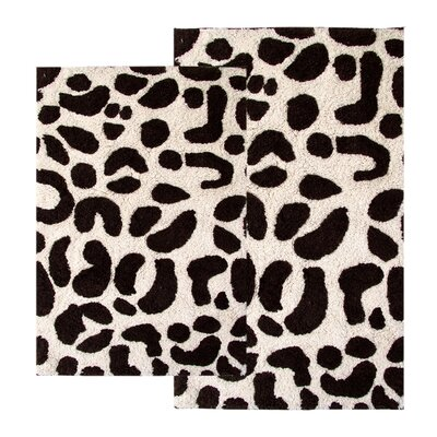 Chesapeake Merchandising Inc. Safari Leopard Contemporary Bath Rug