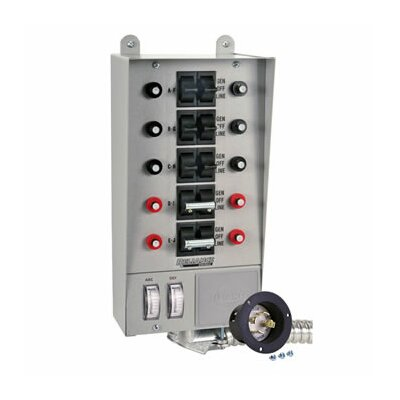 Reliance Controls  Pro / Tran 30 Amp Transfer Switch with 10 Circuit Breaker