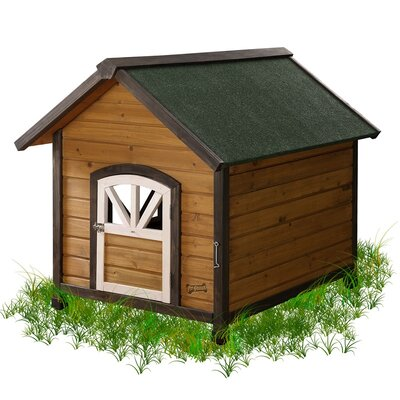 The Pet Squeak Doggy Den Dog House is spaciously designed to give your dogs a quiet place to curl in for a nap or just laze around. You can place the dog house at any corner of your home.