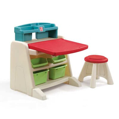 Step2 Flip and Doodle Easel Desk with Stool 836500