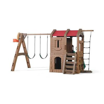 "88.5"" x 147"" Adventure Lodge Play Center Swing Set Product Photo"