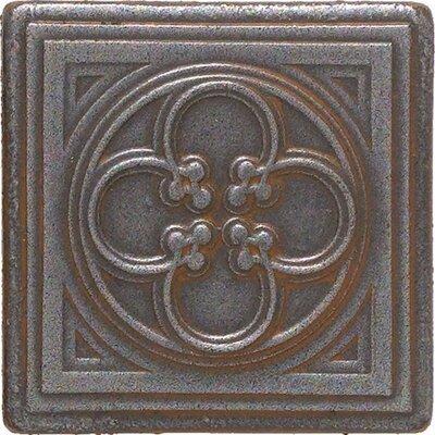 "Daltile Castle Metals 2"" x 2"" Clover Dot Decorative Accent Tile in Wrought Iron"