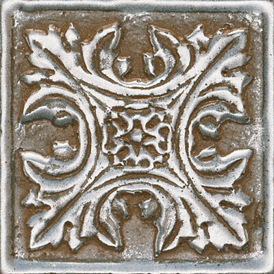 """Daltile Metal Signatures Floral Dot 2"""" x 2"""" Decorative Tile in Aged Iron"""