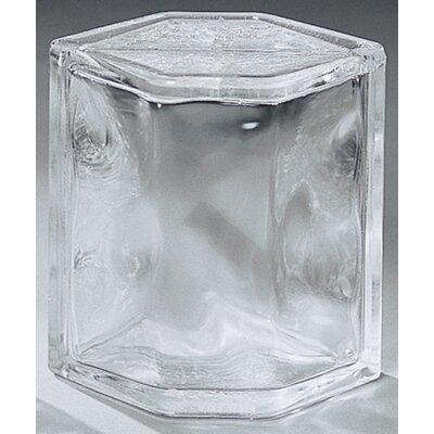 "Daltile Glass Block 8"" x 6"" Decora Hedron Corner Unit"