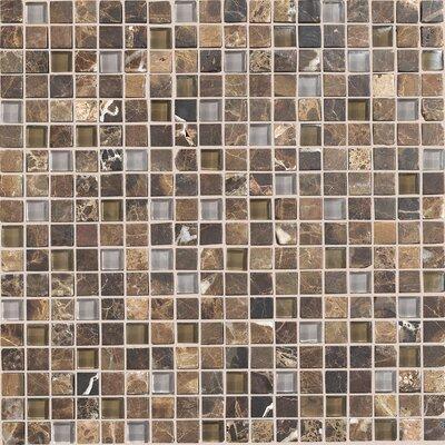"Daltile Stone Radiance 0.63"" x 0.63"" Slate Mosaic in Wisteria/Tortoise"