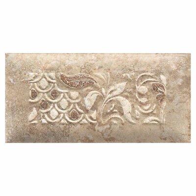 "Daltile Del Monoco 6-1/2"" x 3-1/4"" Glazed Decorative Tile in Tatiana Noce"