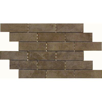 """Daltile Concrete Connection 2"""" x 6"""" Porcelain Mosaic Tile in Eastside Brown"""