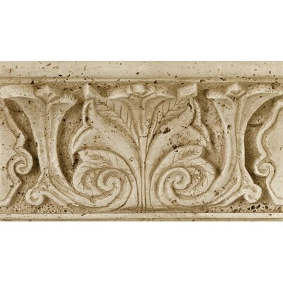 "Daltile Fashion Accents 8"" x 4"" Romanesque Decorative Shelf Rail in Acanthus Travertine"