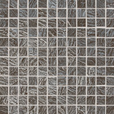 """Daltile Ages 1"""" x 1"""" Metal Mosaic Tile in Clefted Pewter"""
