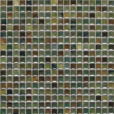 """Daltile Fashion Accents 0.63"""" x 0.63"""" Glass Mosaic Tile in Meadow"""