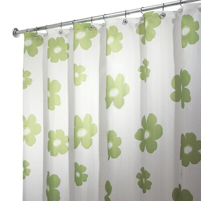 Poppy Vinyl Shower Curtain by InterDesign