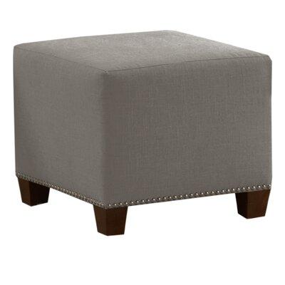 Linen Nail Button Ottoman by Skyline Furniture