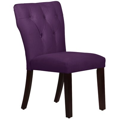 Velvet Tufted Hourglass Side Chair by Skyline Furniture