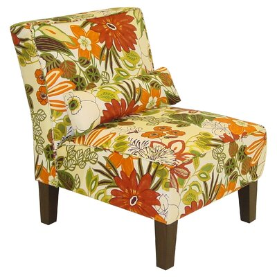 Lilith Fabric Slipper Armless Chair by Skyline Furniture