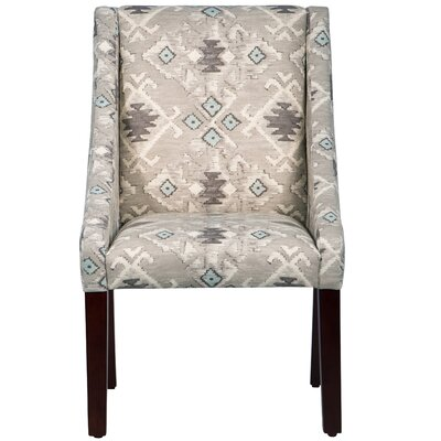 Arm Chair in Grey, White & Teal by Skyline Furniture