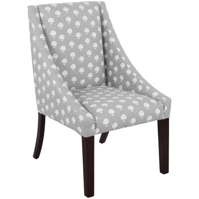 Swoop Arm Chair in Gray & White by Skyline Furniture