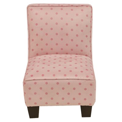 Kids Slipper Chair in Pink by Skyline Furniture