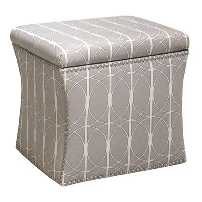 Nail Button Menton Storage Ottoman by Skyline Furniture