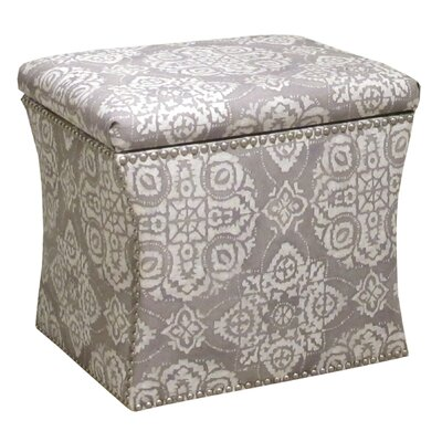 Nail Button Jakarta Storage Ottoman by Skyline Furniture