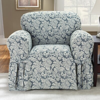 Scroll Classic Club Chair Skirted Slipcover by Sure Fit