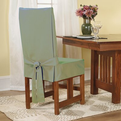 Sure Fit Cotton Duck Shorty Dining Chair Slipcover ...