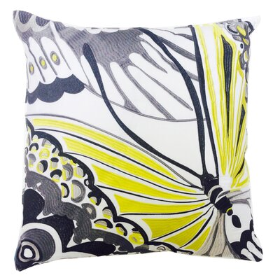 Butterfly Embroidered Linen Throw Pillow by Trina Turk