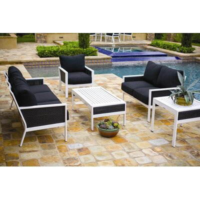Koverton Parkview Woven 5 Piece Deep Seating Group with Cushions