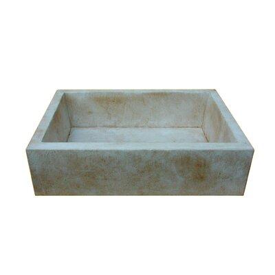 """Moda Collection Farmhouse 29"""" x 20"""" Concrete Kitchen Sink"""
