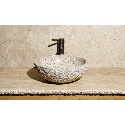 Round Vessel Bathroom Sink with Broken Edge by Allstone Group