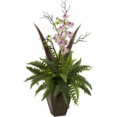 Fern and Orchid Arrangement by Nearly Natural