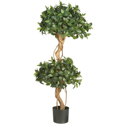 Nearly Natural Sweet Bay Double Ball Round Topiary in Pot