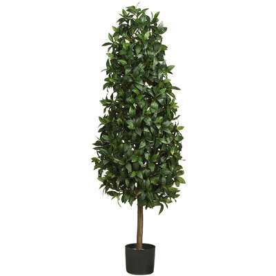 Sweet Bay Pyramid Tree in Pot by Nearly Natural