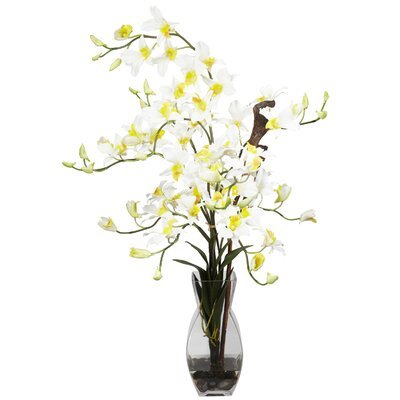 Nearly Natural Dendrobium with Vase Silk Flower